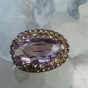 Vintage Brooch Amethyst Color